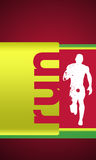 Running. Abstract color Running sport background with space Stock Images