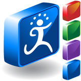 Running 3D Icon Royalty Free Stock Photo