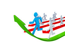 Running 3d small people. Stock Images