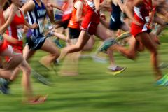Free Running A Race In Motion Stock Photo - 44321000