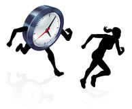 Running Against the Clock Stress Pressure Concept Royalty Free Stock Photography