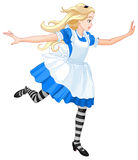Running Alice. Illustration of running cute Alice Royalty Free Stock Photography