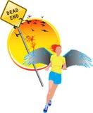 Running angel 1 Stock Image