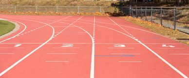 running athlétisme stade Lignes sport photos stock