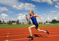 Running athlete Stock Photos