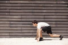 Running athlete Royalty Free Stock Photo