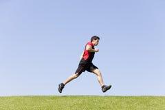 Running athlete Stock Photos