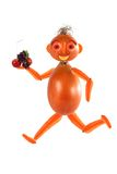 Running athlete, made from fruits and vegetable Royalty Free Stock Image