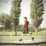 Running athlete Royalty Free Stock Image