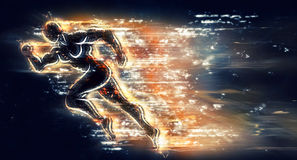 Running athlete. For your design royalty free illustration