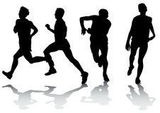 Running athletes Royalty Free Stock Photography