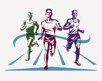 Running athletes symbol. Sport and competition concept royalty free illustration