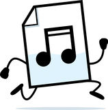 Running Audio File. A cartoon illustration of an audio file running Royalty Free Stock Photography