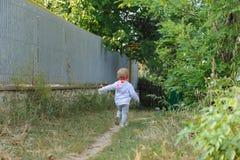 Running Away Girl Stock Photo