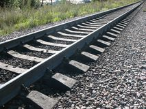A running away railroad Royalty Free Stock Photo