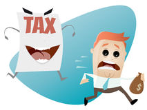 Running away from a tax assessment monster Stock Images