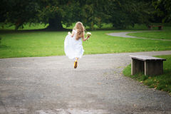 Running away Royalty Free Stock Photo