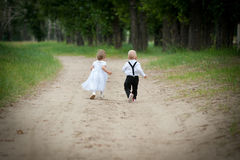 Running babies Royalty Free Stock Photography