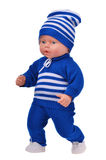 Running baby boy doll Royalty Free Stock Images