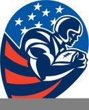 Running back de précipitation de football américain Photographie stock libre de droits
