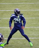 Running back Marshawn Lynch de Seattle Seahawk Images libres de droits