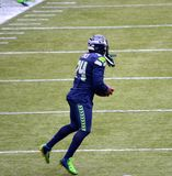 Running back Marshawn Lynch de Seattle Seahawk Photographie stock