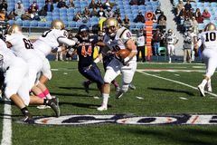 Running back Sean Farrell de Lehigh photographie stock