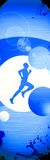 Running. Background with space (poster, web, leaflet, magazine Stock Photography