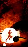 Running. Background with space (poster, web, leaflet, magazine Royalty Free Stock Photo
