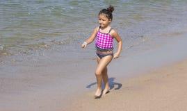 running barn för flicka Royaltyfri Fotografi