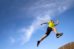 running barn för löpare Arkivbilder