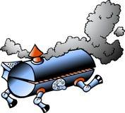 Running BBQ barrel. Hand-drawn Vector illustration of an running BBQ barrel Royalty Free Stock Photography