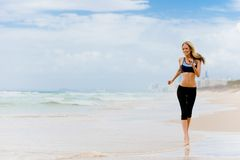 Running On Beach Royalty Free Stock Photography