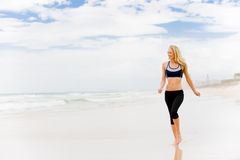 Running On Beach Royalty Free Stock Images