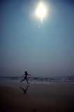 Running at the beach Stock Image