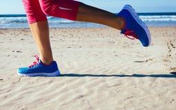 Running at beach Stock Photos