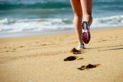 Running on beach Stock Photos