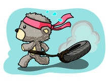 Running Bear. Time to fit and firm Royalty Free Illustration
