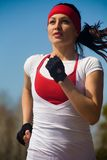 Running beautiful woman Royalty Free Stock Images