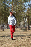 Running Beautiful woman Stock Images
