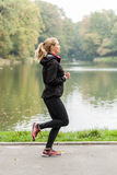 Running in beauty park Royalty Free Stock Photo
