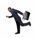 Running black man. Stock Image