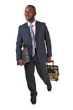 Running black man. Royalty Free Stock Photography
