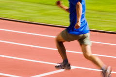 Running blur sporter Royalty Free Stock Image