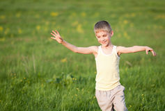 Running boy Royalty Free Stock Image