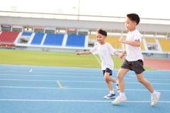 Running boy Stock Photo