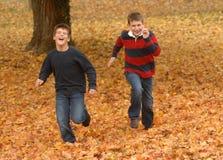 Running boys royalty free stock image