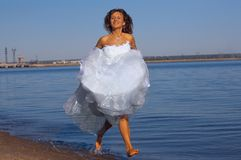 Running bride Royalty Free Stock Photography