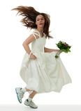 Running bride Royalty Free Stock Photos