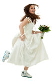 Running bride Stock Images